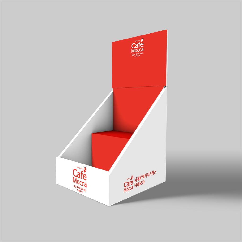 종이진열대 소형 - 카페모카